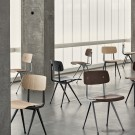 RESULT Chair light grey powder coated steel - light grey stained oak