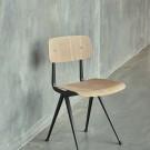 Chaise RESULT acier gris clair - chêne mat