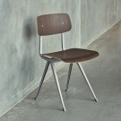 Chaise RESULT acier gris - chêne fumé