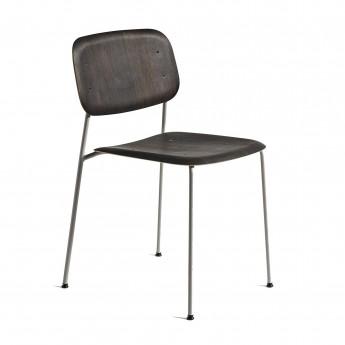 Chaise SOFT EDGE 10 chêne huilé - métal chromé