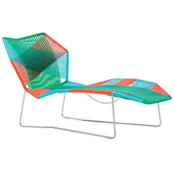 TROPICALIA long chair black/white