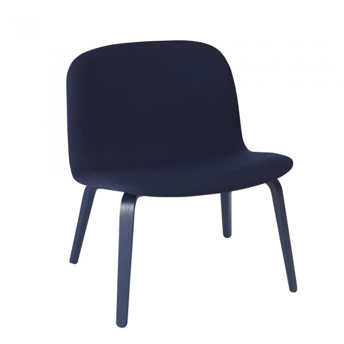 VISU armchair bluish dark fabric