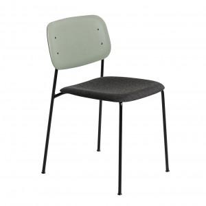 Chaise SOFT EDGE 10 base chêne vert, assise tapissée