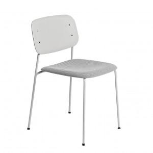 Chaise SOFT EDGE 10 base gris clair, assise tapissée
