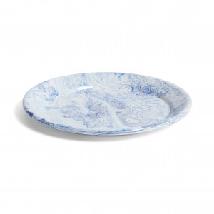 Grande assiette SOFT ICE bleue