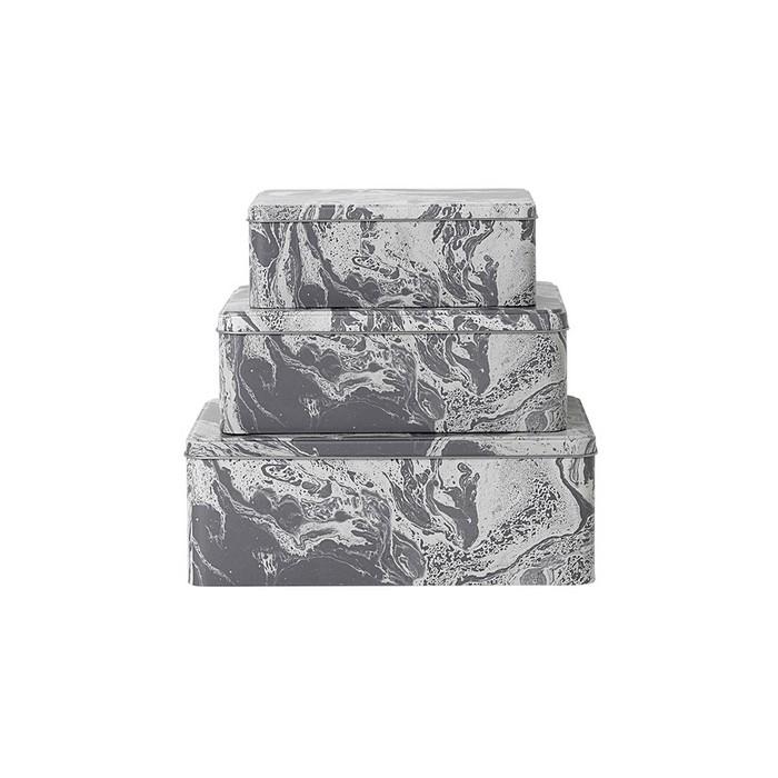 MARBLE tin boxes