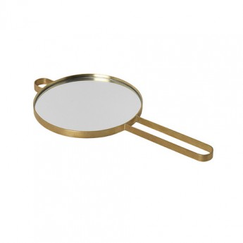 Hand Mirror POISE brass