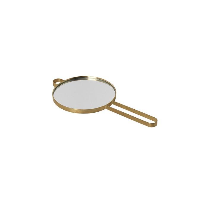 Hand Mirror POISE brass