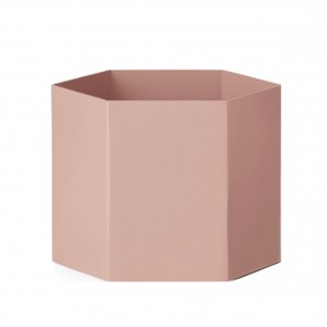 Pot de fleur HEXAGON XL rose