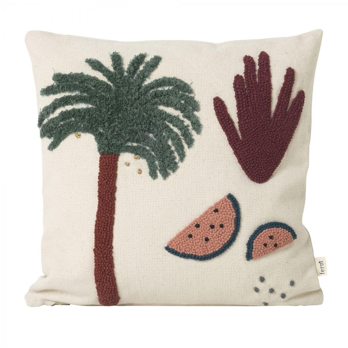 coussin palmier 100 coton ferm living. Black Bedroom Furniture Sets. Home Design Ideas