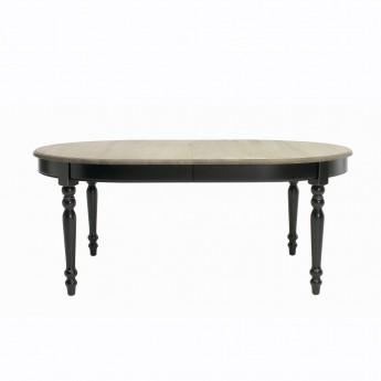 Table VERSAILLES ovale noir