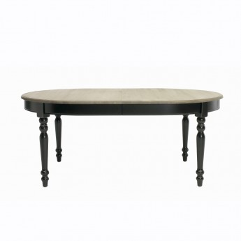 VERSAILLES oval black table