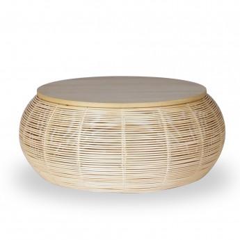 Table basse rotin VIVI Ø75 cm