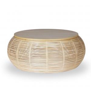 VIVI rattan coffee table Ø75 cm