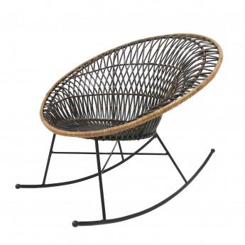 Bohemian rattan EGG armchair