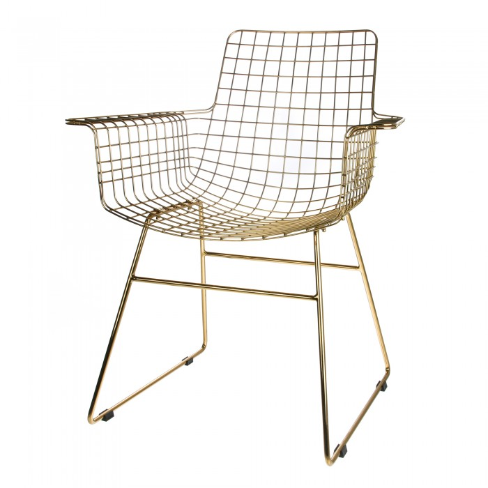Brass Wire Chair And Armrests Hk Living