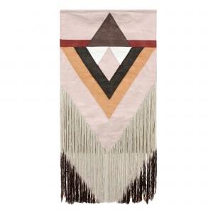 AZTEC wall hanging rug , nude