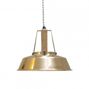 WORKSHOP L COOPER brass pendant