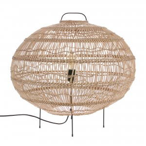 WICKER oval shaped floor lamp