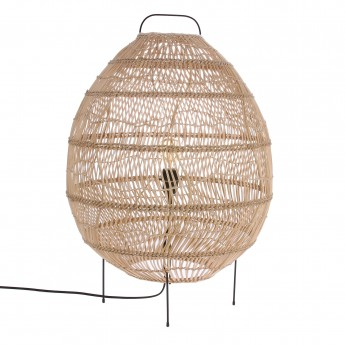 WICKER egg shaped floor lamp