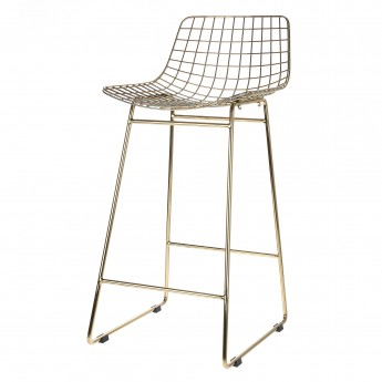 Tabouret de bar WIRE laiton
