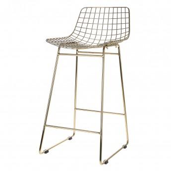 WIRE bar stool brass
