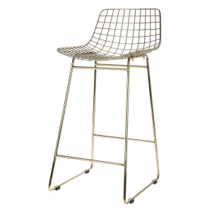 Tabouret de bar WIRE - Laiton