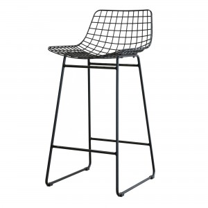 WIRE bar stool - Black