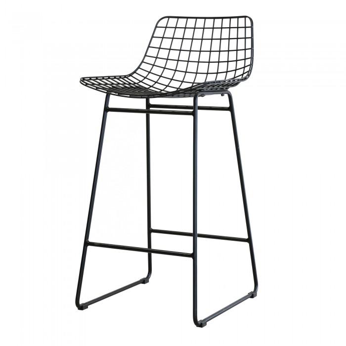 WIRE bar stool black