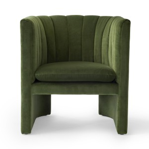 LOAFER armchair - Velvet green