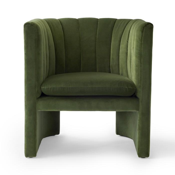 LOAFER armchair - Velvet green