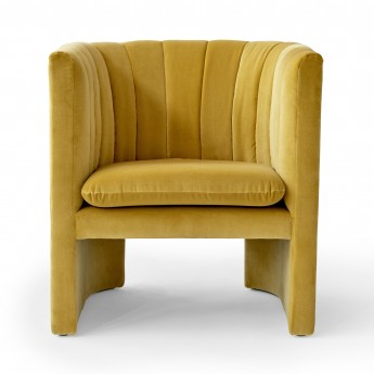LOAFER armchair - Velvet yellow