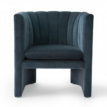 LOAFER armchair - Velvet blue