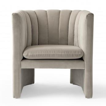 LOAFER armchair - Velvet beige