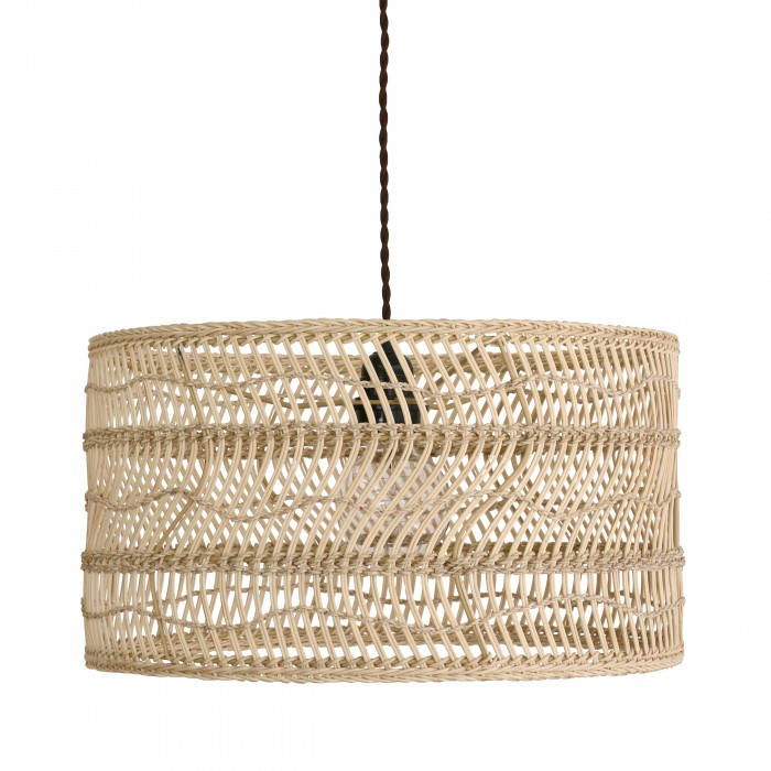 Suspension wicker faite main en osier hk living for Luminaire suspension osier