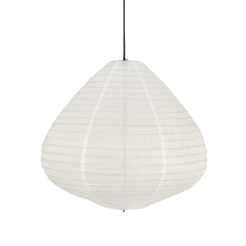 Lanterne LAMPION coton blanc