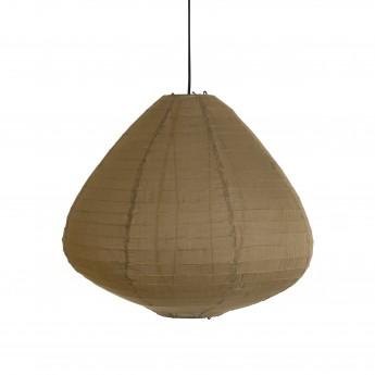 LAMPION fabric lantern brown