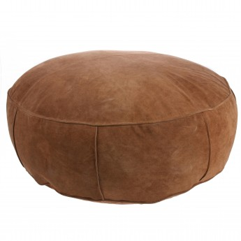 SUEDE pouf dark brown XL