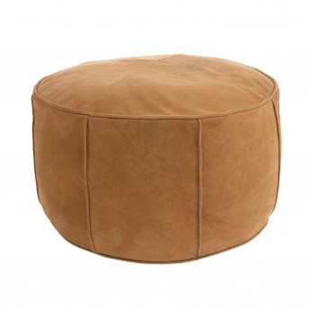 SUEDE pouf light brown