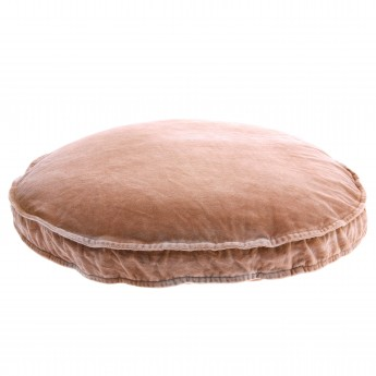 VELVET seat cushion nude