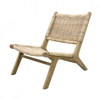 Chaise de repos WICKER en osier naturel