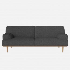 MADISON sofa 2,5 seaters HAZEL dark grey