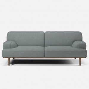MADISON sofa 2,5 seaters BAIZE dust green