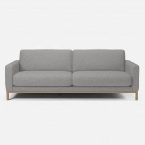 NORTH sofa 3 seaters Nantes light grey