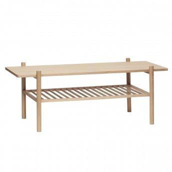 Table basse avec étagère en chêne