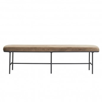 Banc COMMA velours marron