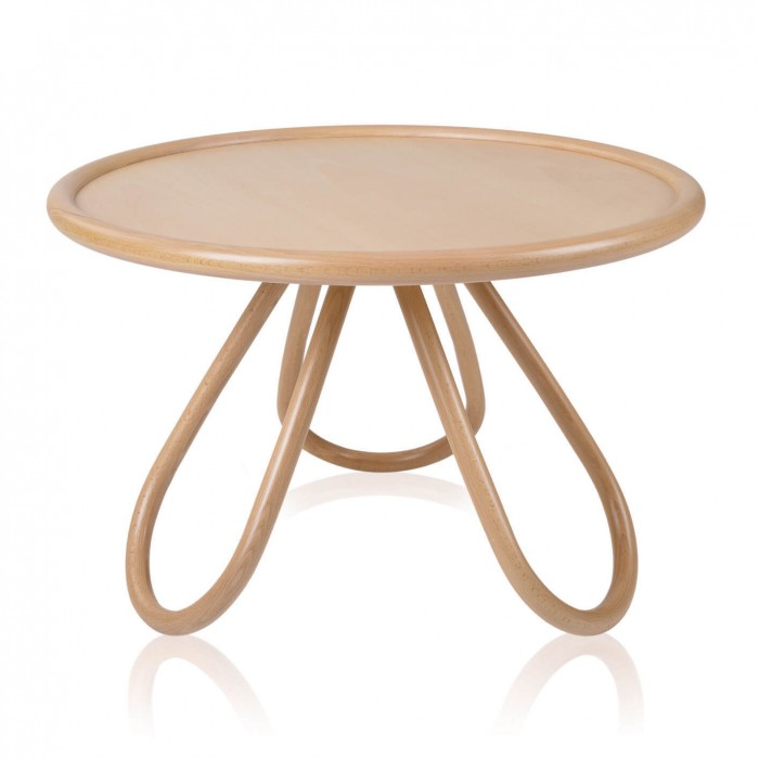 Arch coffee table natural wood