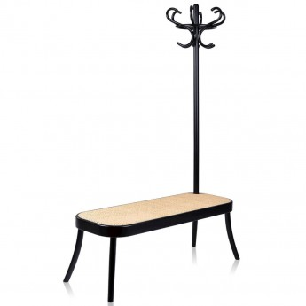 Coat rack bench - black