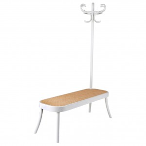 Coat rack bench - white