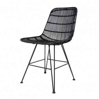 Armchair RATTAN black